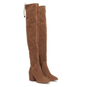 BRAND NEW Aquatalia  thigh high suede boots